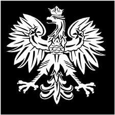 WHITE Vinyl Decal - Polish Eagle - poland emblem fun sticker bird symbol