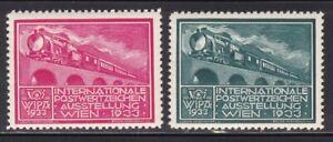 BEFORE-1950 Local AUSTRIA 1933 Poster Trains Railway MNH**