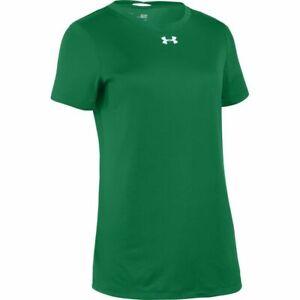 Under Armour Women's Locker 2.0 Shirt KELLY GREEN   SILVER XL
