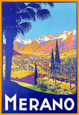 Travel Merano Italy  Holiday  Vacation Poster Print