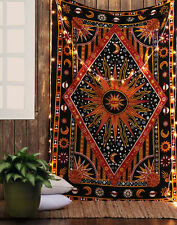 Psychedelic Tie Dye Sun Moon Indian Hippie Tapestry Dorm Bedspread Wall Hanging