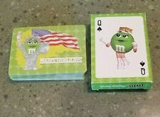 New listing M&M's World, Nyc Playing Cards Statue of Liberty Usa Flag Green M&M Deck