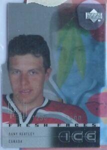 Dany Heatley 2000-01 Upper Deck Ice Fresh Faces Rookie RC Atlanta Thrashers