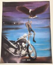 Vintage Harley Davidson Poster Rare New Motorcycle Biker Death Heaven Art Print