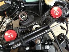 Efecto de fibra de carbono cubierta yugo para caber Kawasaki ZX10R 2011 - 2015