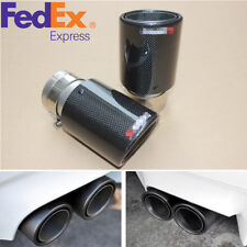 Real Carbon Fiber 63mm-89mm Car Auto SUV Exhaust Pipe Muffler End Tips Gloss