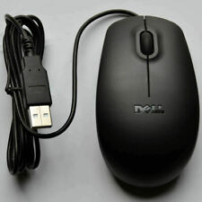 Dell HP Lenovo Logitech Black USB Wired 3 Button Optical Scroll Wheel Mouse