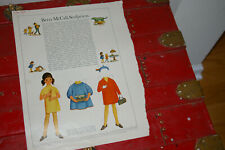 Vintage Betsy McCall Paper Doll February 1967 Betsy Sculptress