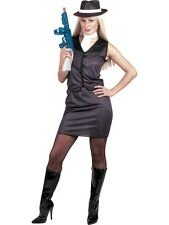 Gangster Moll Costume L - Gangster Lady Fancy Dress Mafia - Ladies Fancy Dress