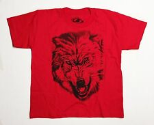 Wolf - Youth Small 6/7 Red T-Shirt Graphic Tee