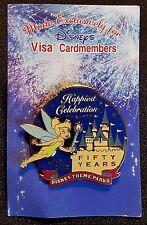2005 Disney Visa Cardmember Disneyland Happiest Celebration Tinker Bell Pin Le