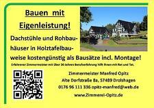 Fertighaus, Holzrahmenbau, Fachwerkhaus, Bausatzhaus, Dachstuhl, Gaube