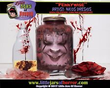 Pennywise Head in a Jar  - Halloween Decor / Horror Art / Haunted House Prop -