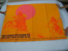 Original 1970 Harley Davidson Race Poster Greenhorn Baja Bob Steffan sprint ers