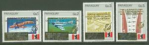 Paraguay A20 1989 MNH Set 4v Gold OVPT Aviation Planes CV 18 eur