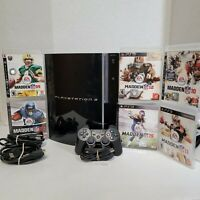 Sony PS3 Playstation 3 Fat CECHG01 40 GB with 6 Games TESTED PS1 Compatible