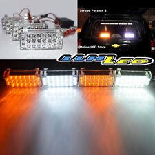 4 x 22 LED Car Safety Amber/White Strobe Flash Warning Light Universal Fit