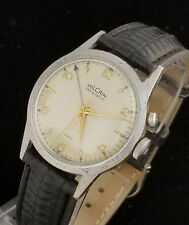 VINTAGE VULCAIN SENSILARM MANUAL WIND ALARM WRIST WATCH - RARE EARLY CRICKET