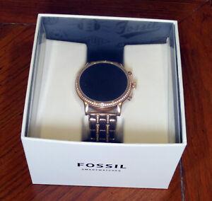 Fossil Gen 5 Julianna 44mm Stainless Steel  Rose Gold Bracelet Watch - (FTW6035