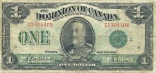 Dominion Of Canada $1 1923 Green Seal Group 2 King George V ~ Nice Problem-Free