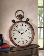 Reloj de Pared Bolsillo XXL Old Town Metal Shabby Chic Nostalgig