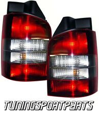 REAR TAIL LIGHTS RED-WHITE FOR VW BUS T5 03-09 MULTIVAN LAMP FANALE POSTERIORE