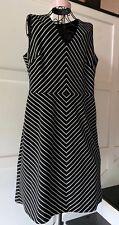 Womens Jones New York Stretch Black & White Striped Dress, Size 16