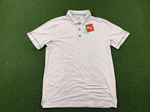 Puma Cloudspun Monarch Golf Polo Shirt Heather Parfait Pink SZ M ( 599117 17 )