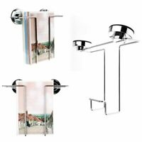 Wall Suction Cup Stainless Steel Book Magazine File Rack Storage Standing Shelf