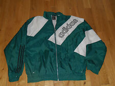 VINTAGE 90'S ADIDAS LIGHTWEIGHT ZIP UP SOCCER JACKET MENS XL GREEN WHITE LOGO