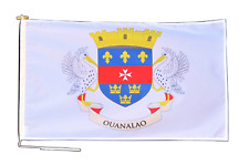 More details for saint barthélemy france flag with rope and toggle - various sizes