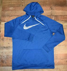 Nike Therma Fit Hoodie Men Big Tall 2XLT Dri-Fit Running Sweatshirt 860485 Blue