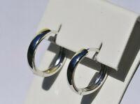Echt 925 Sterling Silber Ohrringe Creolen 15 mm Nr 241-25