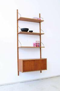 Vintage 60er Teak Wandregal Regalsystem Danish 60s Mid-Century 60s Wall Shelf