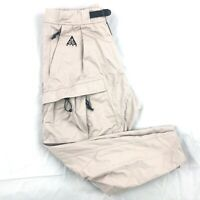 Nike ACG Woven Cargo Pants Moon Particle Beige Black BQ7293-286 Men's XXL 2XL
