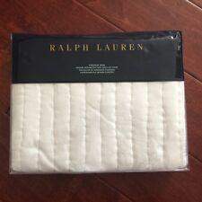 RALPH LAUREN Tuxedo Park EURO Daria SHAM Silk Cotton WHITE Pintuck $255 NWT