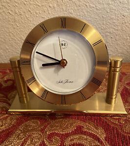 Seth Thomas  Brass Floating Dial Table Clock/Alarm Clock .