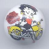 1 Betty Boop Biker Advertising Glass Marble
