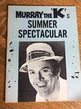 Murray the K's Summer Spectacular Program: Tom Jones, Gary Lewis, Temptations, B