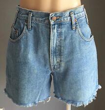 Vintage Altered Waist REDPOINT Blue Denim Shorts w Frayed Hem Size 10