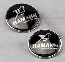 KIT - 2 Badge HAMANN - BMW Embleme - Capot+Coffre LOGO Insigne 82mm / 73mm