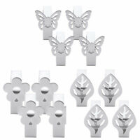 4Pcs Stainless Steel Tablecloth Cover Clips Clamps Holder Party Picnic Supplies