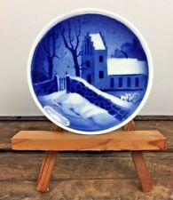 Real Copenhagen Denmark Mini Plate House Stone Wallaby's Snow Scene