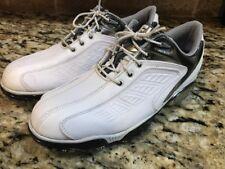 FootJoy Men's Sport #53203 Leather Golf Shoes White/Black/Silver Size 8 W