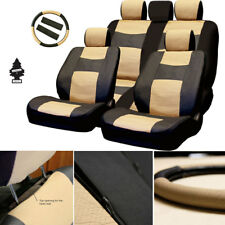 New PU Leather Car Truck SUV Auto Seat Cover Front Rear Full Set For Toyota