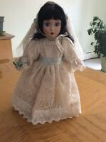 "DANBURY MINT MARY A BRIDE OF THE 1950'S 13"" BRIDES OF AMERICA SERIES"