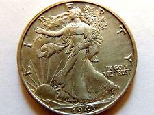 1943-D Liberty Walking Half Dollar Silver AU High Grade Coin