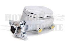 Gm Chevy Ball Milled Brake Master Cylinder 1-1/8 Bore Chrome Aluminum