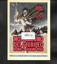 Motoraduno Del Giubileo Roma,Italy C.O.N.I. 1950 Reproduction Postcard