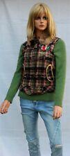 Pepe Jeans London Weste kariert Mehrfarbig Gr. XS Wolle/Baumwolle